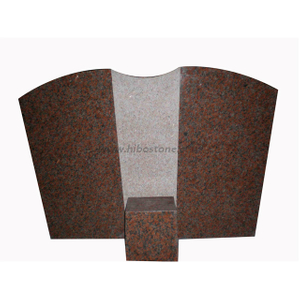 Maple Red Granite Memorial Headstone