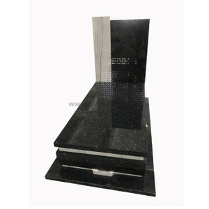 Dark Steel Grey Granite Tombstone